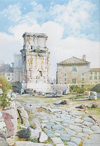 Settimio Giampietri (Italian, 1842-1924) The Arch of Constantine, Rome
