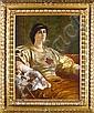 Sir William Blake Richmond, RA (British, 1842-1921) Portrait of Ethel Bertha Harrison, Sir William Blake Richmond, Click for value