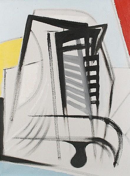 Merlyn Evans (British, 1910-1973) Latticed head, no:2