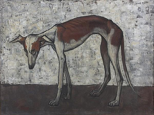 John Copnall (British, 1928-2007) 'Dog' 70 x 90cm.