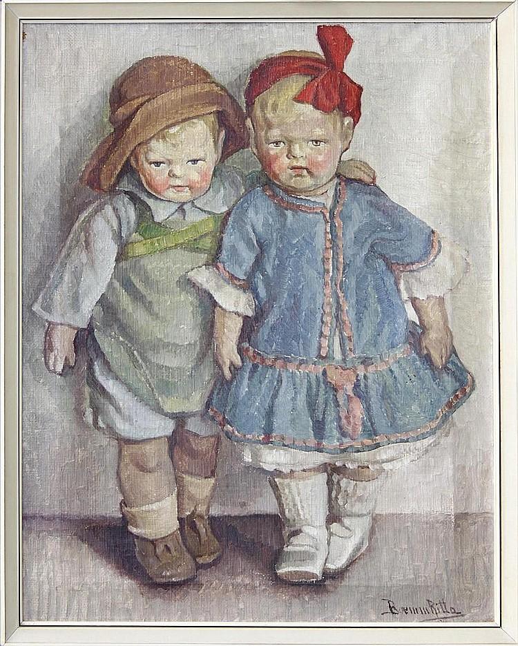Ritta Boemm (Hungarian, 1868-1948) Hungarian dolls
