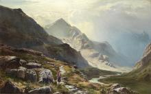 Sidney Richard Percy (British, 1821-1886) The mountain pass