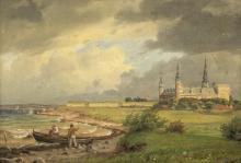 Eiler Rasmussen Eilersen (Danish, 1827-1912) View of Kronborg Slot