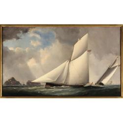 **Capt. James Haughton Forrest (British/Australian,1825 - 1924) The Royal Yacht Squadron's famous