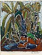 Bruce Onobrakpeya (Nigerian, born 1932) 'On Obaro Ogua (Decorated Facade)'; 'Emephara (Young Palm trees)'; 'Ekho Ephran (Birds' nests)' one 50 x 68cm (19 11/16 x 26 3/4in), the others 28 x 22.5cm (11 x 8 7/8in), Bruce Onobrakpeya, Click for value