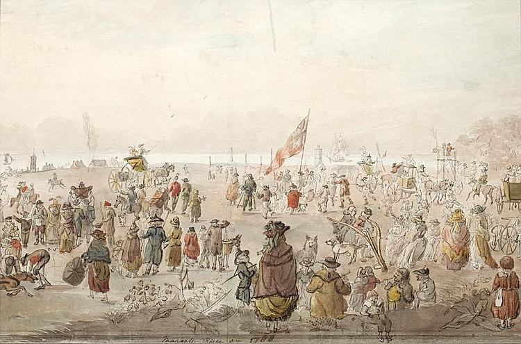 John Nixon (British, 1760-1818) 'Margate Races in 1788'