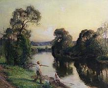 Jules Alexis Muenier (French, 1863-1942) A la pêche