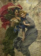 Gaetano Bellei (Italian, 1857-1922) Giornata di pioggia (Rainy day)
