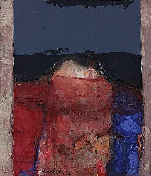 Tom Hutcheson (British, born 1924) Red Landscape, Lanarkshire