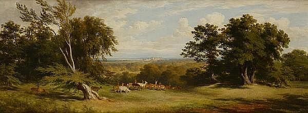 James Giles, RSA (British, 1801-1870) Deer near Windsor Castle