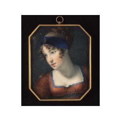George Lethbridge Saunders (British, 1807-1863) A Lady, her head slightly bowed, wearing