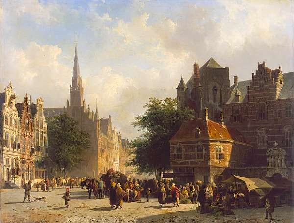 Cornelis Springer (Dutch 1817-1891)