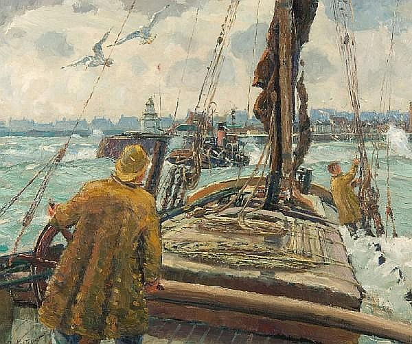 Rowland Fisher (British, 1885-1969) Coming in to shore