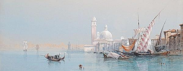 Edward Richardson (British, 1812-1869) The Venetian lagoon