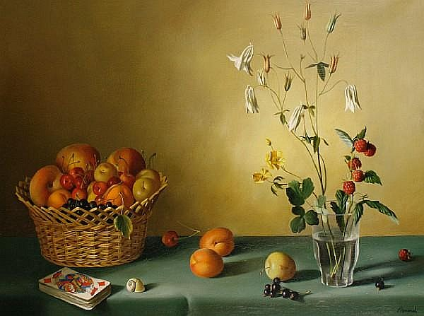 Fernand Renard (French 20th Century) Still life of fruit