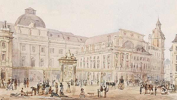 Thomas Talbot Bury (1811-1877) Palais de Justice