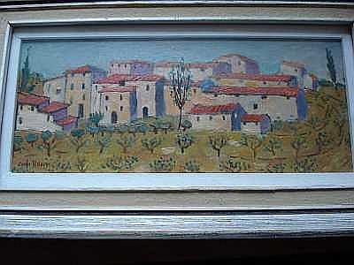 Eugenio Federico Carlo Rossi, RSW (British, born 1921) Tuscan village
