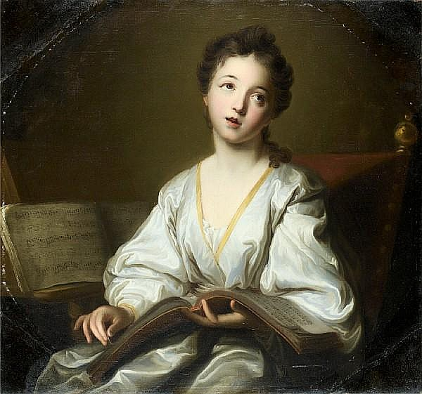 Studio of Jean-Baptiste Santerre (Magny-en-Vexin 1651-1717 Paris) Portrait of a young lady,