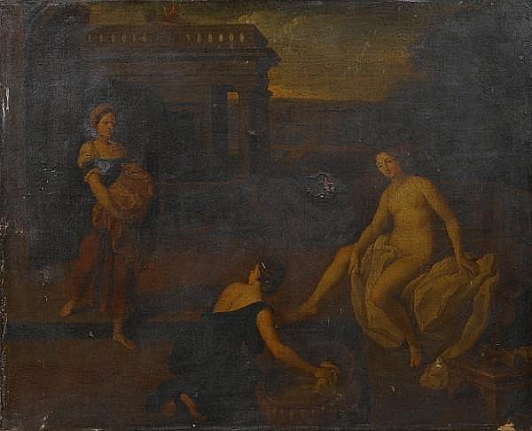 Attributed to Charles Alphonse Dufresnoy (Paris 1611-1668 Villiers-le-Bel) Bathsheba bathing unframed