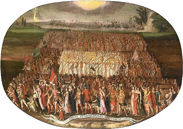 Antoine Caron (Beauvais 1520-1599 Paris) The Exodus of the Tribes of Israel with the Ark of Covenant