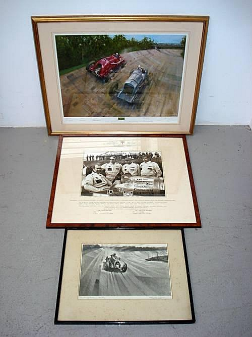 Three signed prints relating to Bentley,