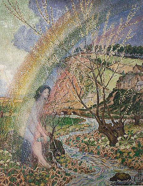 Robert James Enraght Moony (British, 1879-1946) Rainbow lady