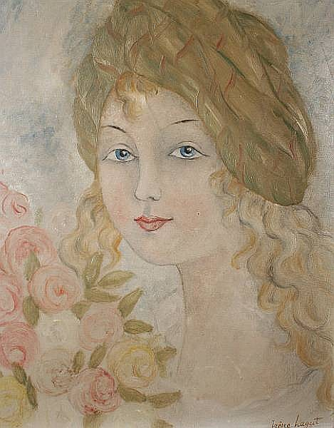 Irène Lagut (French, born 1893-?) Portrait of a young woman