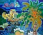 Guy Charon (French, born 1927) Beach scene with palm tree, Guy Charon, Click for value