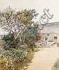 Charles Green (British, 1840-1898) 'Upland cottage', Charles  Green, Click for value