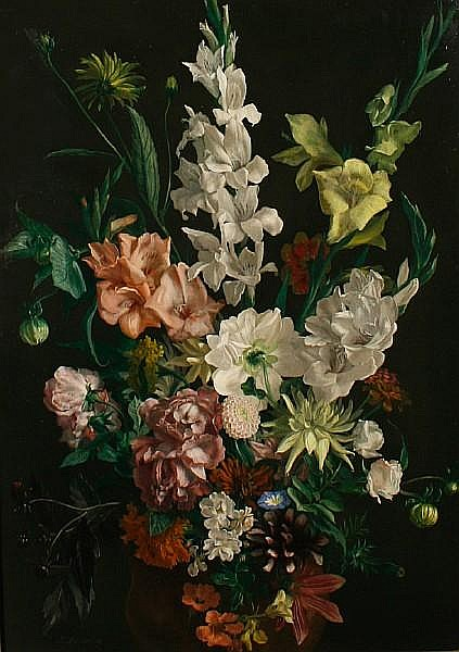 Ludwig Bartning (German, 1876-1956) Still life of flowers