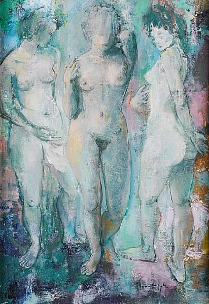 Jean Max Friedrich Welz (South African, 1900-1975) 'The Three Graces'