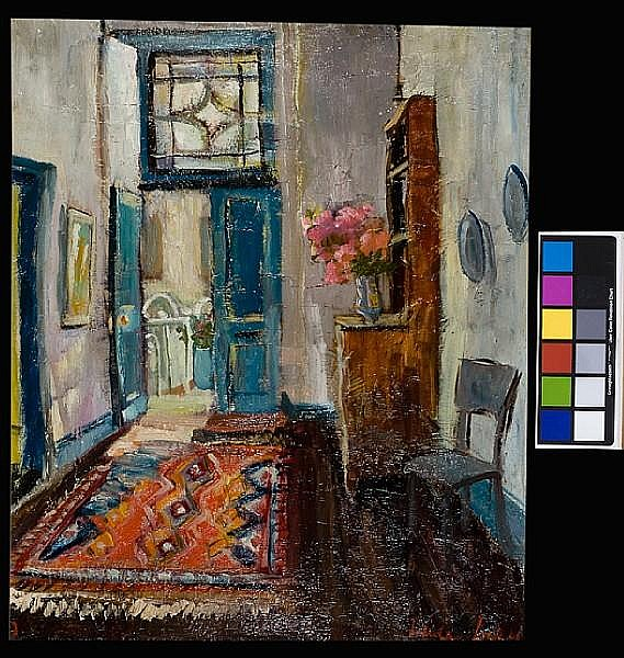 Freida Lock (South African, 1902-1962) Hall interior