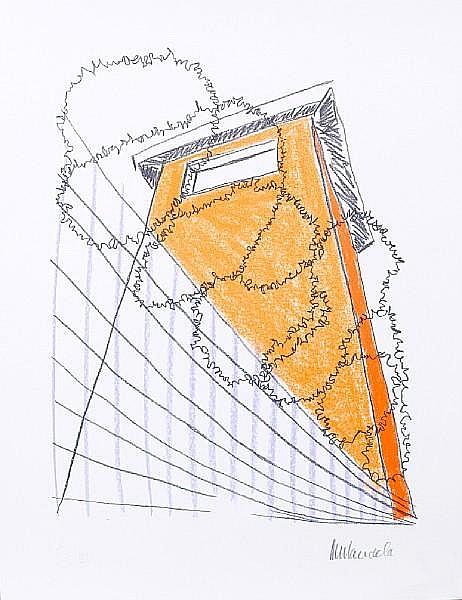 Nelson Rolihlahla Mandela (South African, born 1918) 'The Guard Tower' unframed, in original presentation box