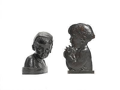 Marie-Anne Cranney-Franceschi (1883): A bronze bust of a child