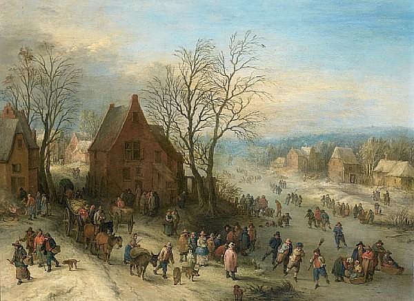Theobald Michau (Tournai 1676-1765 Antwerp) A winter landscape