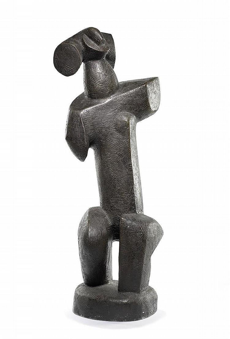 Sydney Alex Kumalo (South African, 1935-1988) Upright figure, circa 1974 65cm (25 9/16in) high