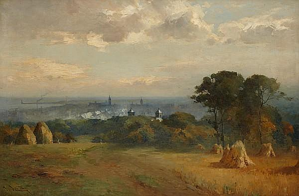 Thomas Bunting (British, 1851-1928) Aberdeen from the north