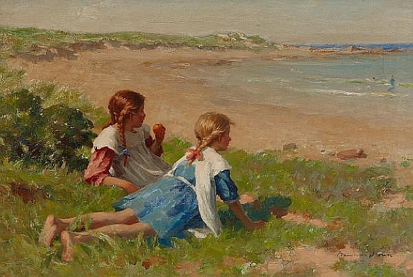 William Marshall Brown, RSA RSW (British, 1863-1936) Pease Bay