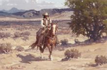 Melvin Warren (1920-1995) Near the Rio Grande 12 x 18in (Painted in 1982.)