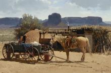 Melvin Warren (1920-1995) Desert Home 24 x 36in (Painted in 1973.)