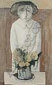 Marcello Boccacci (Italian, born 1914) Figure and flowers, Marcello Boccacci, Click for value
