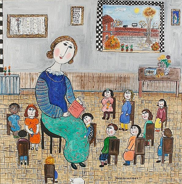 Dora Holzhandler (British, born 1928) The Kindergaen