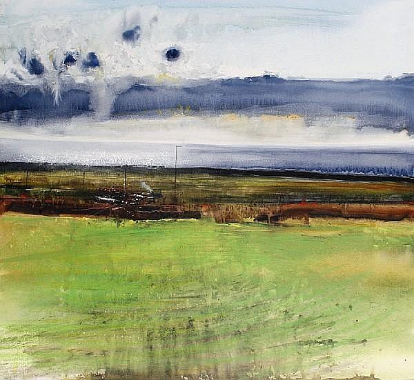 Kurt Jackson (British, born 1961) Sea, afternoon light