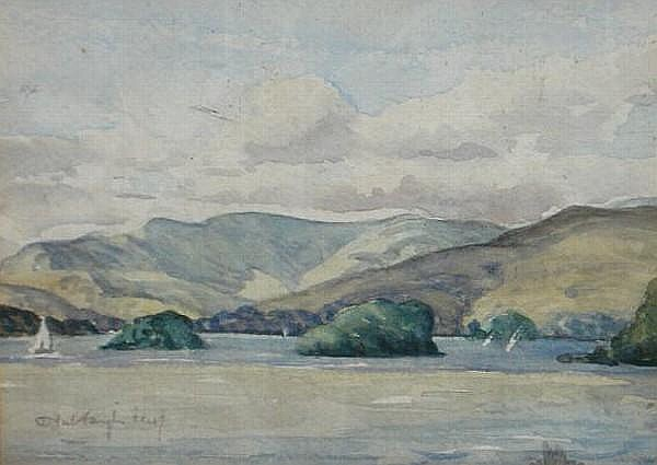 Neil Taylor (Australian, born 1953) Looking towards Ambleside from Browness Bay 13cm x 17cm,