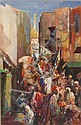 Hal (Henry William Lowe) Hurst (British, 1865-1938) A Middle Eastern procession, Hal Hurst, Click for value