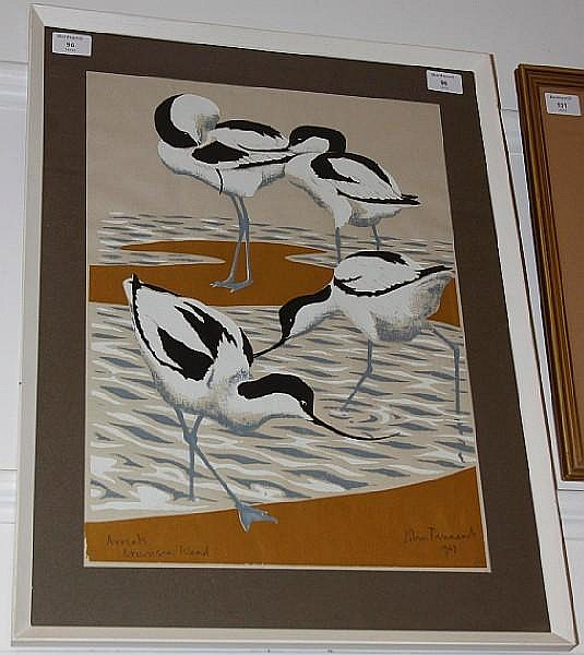 John Tennent (British, born 1926) 'Avocets, Brownsea Island'