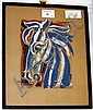Osborne Robinson, 20th Century Pink and Blue Horse, Thomas Osborne Robinson, Click for value