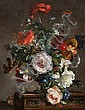 Stuart Scott Somerville (British, 1908-1983) Poppies, peonies and other flowers in a vase, Stuart Scott Somerville, Click for value