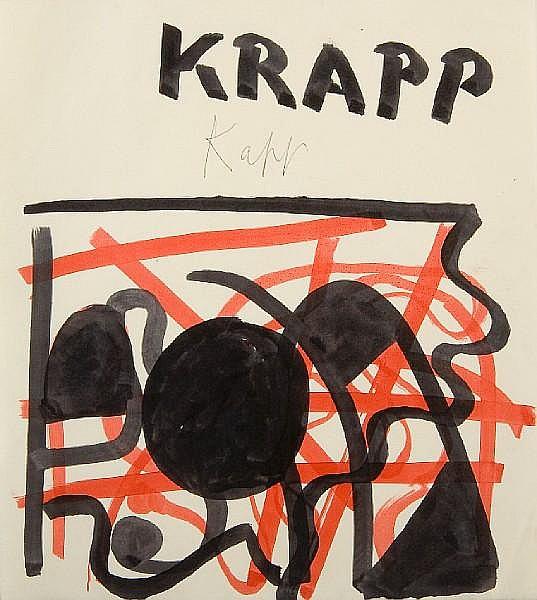 Edmond Xavier Kapp (British, 1890-1978) 'Krapp'