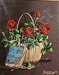 Alfano Alfredo Dardari (Italian, born 1924) Still life of roses in a basket, Alfano Dardari, Click for value